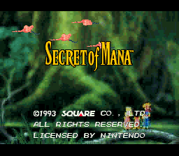 Secret of Mana (USA) Title Screen