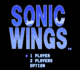 Sonic Wings (Japan) Title Screen