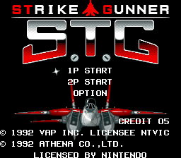 Strike Gunner S.T.G (USA) Title Screen