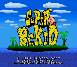 Super B.C. Kid (Europe) Title Screen