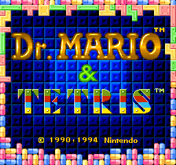 Tetris & Dr. Mario (USA) Title Screen