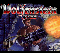 Wolfenstein 3D (USA) Title Screen