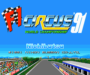 F1 Circus '91 - World Championship (Japan) Screenshot